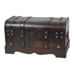 Small Pirate Style Treasure Chest - This decorative treasure box is gonna fill any empty place in your home or heart.
