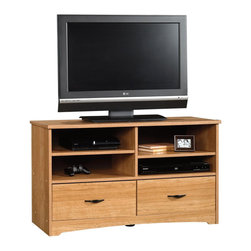 Sauder - Sauder Beginnings TV Stand in Highland Oak - Sauder - TV Stands - 414162 -