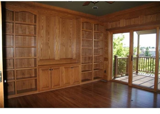 Staining Wood Floors But Now Wood Paneling And Bookshelves