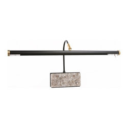 """Cocoweb, Inc. - Cocoweb 19"""" LED Grand Piano Lamp - Marble plated Black with Brass Accents - The Manufacturer"""