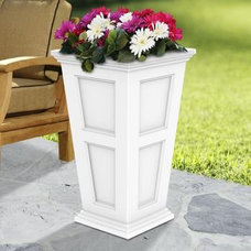 Traditional Outdoor Planters Fairfield 28 Inch High Fluted Planter (Many Colors)