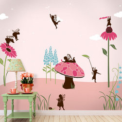 My Wonderful Walls - Fairy Wall Stencils Kit for Painting - - 23 individual fairy and flower wall stencils