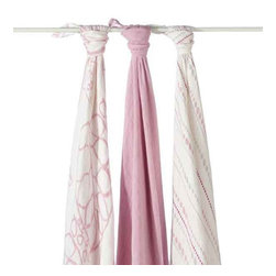 Aden and Anais - Aden and Anais Tranquility Bamboo Swaddles Set of 3 - The ultimate in swaddling comfort brought to you and baby by bamboo!