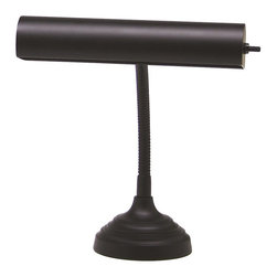 House Of Troy - House Of Troy Advent Transitional Piano/Desk Lamp X-7-02-01PA - Gooseneck piano lamp with 9 foot black cord. Shade swivels to direct light.