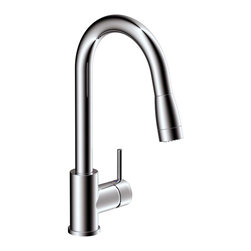 Estora - Estora Vanteno Pull-Down Kitchen Faucet, Chrome - Estora Single Handle Pull Down Kitchen Faucet from the Vanteno Collection