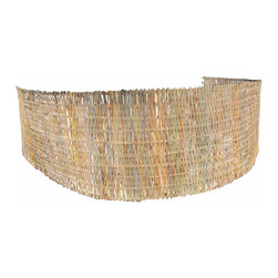 """Master Garden Products - Bamboo Woven Mat Fence, 24""""H x 180""""L - The bamboo slat woven fence is the most economical bamboo rolled fence in the market today. It utilizes only the outer part of bamboo which is the toughest and the most natural looking part of the fence.  This beautiful hand woven fence can be added to the wall of your landscape without using wire that can eventually rust over time. This low cost fencing and screening material can also be used in  farms for screening animals, as well as other commercial areas such as theme parks, parks, restaurants, etc. , to add a touch of nature to their landscape."""