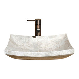 The Allstone Group - V-VZ1816 Emperador Light Polished Vessel Sink - Natural stone strikes a balance between beauty and function. Each design is hand-hewn from 100% natural stone.  Vessel sinks can be the most inspiring feature in a bathroom, adding style and beauty to any bath space.  Stone not only is pleasing to the eye but also has the feel of something natural and solid.