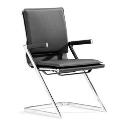 Zuo Modern - Zuo Modern Lider Plus Modern Conference Chair (Pack of 2) X-012512 - With its ergonomically shape, padded back and seat cushions, the conference chair works in comfort. It has a chromed steel frame with soft neoprene arm pads. DISCLAIMER: Zuo Modern Contemporary, Inc. is not affiliated with Herman Miller, Inc. and its products are not affiliated with Eames Aluminum Group or Softpad products.