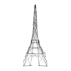 Used Wire Eiffel Tower Sculpture - This fantastic Eiffel Tower sculpture has  a rustic feel and is made entirely of shaped wire.