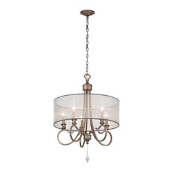 Kichler - Malina Brushed Silver and Gold Five Light One Tier Small Chandelier - - Finish/Color: Brushed Silver and Gold  - Product Width: 23  - Product Height: 31.5  - Socket Type: CAND  - Chain Length: 72 Kichler - 43244BRSG