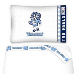Sports Coverage - NCAA North Carolina Tarheels Football Twin Bed Sheet Set - FEATURES: