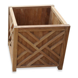 Teak 21-Inch Chippendale Planter - I like the design of this Chippendale planter. If space permits, it would look nice on a front porch too.