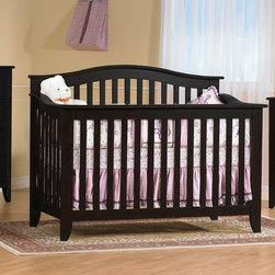 "PALI - Salerno 4-in-1 Convertible Crib Set - Features: -Salerno collection. -Solid rubberwood construction. -Converts to full-size bed. -When it comes time to invest in furniture, Pali has manufactured an excellent product that will last for generations; when purchasing Pali furniture, you can be comfortable in the knowledge that you have made a lifetime investment for your child. Dimensions: -45"" H x 35"" W x 58"" D. Pali's Commitment to a Greener Environment: Pali uses non toxic, lead-free water-based paints, only water-based glues, recycled cardboard for their packaging and techniques that minimize solvent emissions and surpass American standards. They also recycle all materials that cannot be reused. Therefore, Pali's commitment to a greener environment is a commitment to each and every one of their customers and the well-being of future generations. This is a NON-Drop Side crib"
