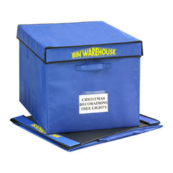 Bin Warehouse - Bin Warehouse Fold-a-Totes, Set of 4 - These Fold-A-Totes are great for larger items such as seasonal decor, sports equipment, books and more! They are also great for college dorm room storage. Made with durable lightweight canvas they are easy to maneuver moisture and mildew resistant to protect just about any item. The lid and PVC panels attach with velcro and fold quickly with ease.  Each tote has two heavy duty handles designed to accommodate heavier loads. Bin Warehouse Fold-a-Totes are perfect for a broad range of home, office, garage and basement storage needs. Get yours today!