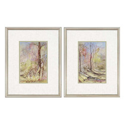 Paragon - Down the Path PK/2 - Framed Art - Each product is custom made upon order so there might be small variations from the picture displayed. No two pieces are exactly alike.