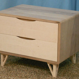 2 Drawer Danish Modern Nightstands - Danish Modern Nightstand (Item # 2D630)