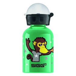 Sigg Water Bottle - Go Team - Monkey Elephant - .3 Liters - Case Of 6 - Why should adults have all the fun? With the SIGG Little Kids Bottle Collection, you can keep the kids hydrated and happy. There's a convenient size for every hydration need. Ideal for packing into your child's lunch box, this 0.3-liter SIGG Aluminum Water Bottle with kids bottle cap has a highly resistant lining, making it almost unbreakable! SIGG's EcoCare liner is made from BPA-free and phthalate-free ingredients.