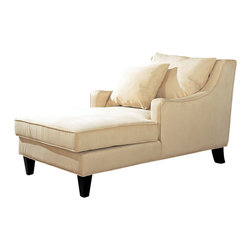 Coaster - Coaster Chaise Lounger in Cream Microfiber - Coaster - Chaise Lounges - 500029