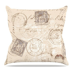 """Kess InHouse - Heidi Jennings """"World Traveler"""" Brown Throw Pillow (20"""" x 20"""") - Rest among the art you love. Transform your hang out room into a hip gallery, that's also comfortable. With this pillow you can create an environment that reflects your unique style. It's amazing what a throw pillow can do to complete a room. (Kess InHouse is not responsible for pillow fighting that may occur as the result of creative stimulation)."""