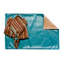 Silverado Home - Kim Turquoise Placemat - Sold in Sets of Four:
