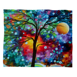 DENY Designs - Madart Inc A Moment In Time Fleece Throw Blanket - This DENY fleece throw blanket may be the softest blanket ever! And we're not being overly dramatic here. In addition to being incredibly snuggly with it's plush fleece material, it's maching washable with no image fading. Plus, it comes in three different sizes: 80x60 (big enough for two), 60x50 (the fan favorite) and the 40x30. With all of these great features, we've found the perfect fleece blanket and an original gift! Full color front with white back. Custom printed in the USA for every order.
