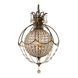 Murray Feiss - Murray Feiss Bellini Ball Shaped Pendant Light in British Bronze - Shown in picture: Bellini Chandelier - Up in Oxidized Bronze/British Bronze finish