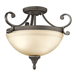 Kichler - Kichler 43169OZ Monroe 2 Light Semi-Flush Indoor Ceiling Fixture - Product Features: