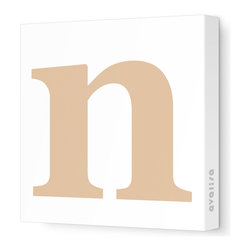 """Avalisa - Letter - Lower Case 'n' Stretched Wall Art, 18"""" x 18"""", Light Brown - Spell it out loud. These lowercase letters on stretched canvas would look wonderful in a nursery touting your little one's name, but don't stop there; they could work most anywhere in the home you'd like to add some playful text to the walls. Mix and match colors for a truly fun feel or stick to one color for a more uniform look."""