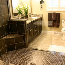 Contemporary Bathroom by Level Ground Enterprise, LLC