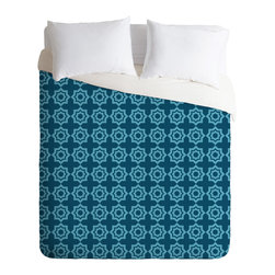 DENY Designs - Khristian A Howell Moroccan Mirage Blue Duvet Cover - Turn your basic, boring down comforter into the super stylish focal point of your bedroom. Our Luxe Duvet is made from a heavy-weight luxurious woven polyester with a 50% cotton/50% polyester cream bottom. It also includes a hidden zipper with interior corner ties to secure your comforter. it's comfy, fade-resistant, and custom printed for each and every customer.