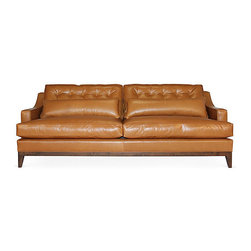 "Alva 90"" Sofa, Beige - The Alva sits upon a solid wood frame and complete Trillium fill seating. A bounce and a plush one can always enjoy! With strong arms and comfortable seating - hand tufted accents add unique style to this modern piece."