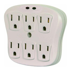 Satco - Satco 91-223 Surge Wall Tap - 6 Outlets - 6 Outlet Plug In Surge Wall Tap