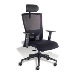 Jesper Office Furniture - Anna Office Chair in Midnight - Features: