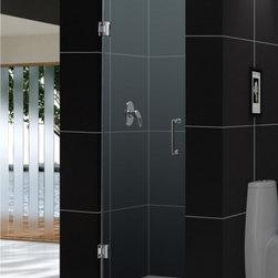 """DreamLine - DreamLine SHDR-20247210F-01 Unidoor Shower Door - DreamLine Unidoor 24"""" Frameless Hinged Shower Door, Clear 3/8"""" Glass Door, Chrome Finish"""