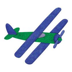 My Wonderful Walls - Biplane Airplane Wall Sticker Decal, Right Facing - - biplane airplane wall sticker