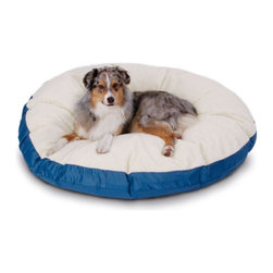 Hidden Valley Products - SuperSoft Round Sherpa Dog Bed - SSRS/PAW/M - Shop for Beds Covers and Fill from Hayneedle.com! The Super Soft Round Sherpa Dog Bed is filled with Hypro-Loft an exclusive blend of virgin and recycled fibers which provides unmatched loft by not shifting or matting. Machine washable the ultra bed has a sherpa top and cotton or nylon bottom which removes for easy cleaning. Cover is polyester/cotton blend and is washable and dryable as often as you need. Super Soft Round Sherpa Dog Bed Sizes: Medium: 36 x 36 inches Large: 42 x 42 inches X-Large: 52 x 52 inches Poly-Suede is quality brushed microsuede fabric heavy duty 12 oz. 100% polyester with added backing for strength and durability washable and easy care comfort at its finest add a touch of luxury with this top-rated microsuede in a collection of colors to match any home decor.
