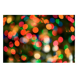 Custom Photo Factory - Christmas Lights Canvas Wall Art - Christmas Lights  Size: 20 Inches x 30 Inches . Ready to Hang on 1.5 Inch Thick Wooden Frame. 30 Day Money Back Guarantee. Made in America-Los Angeles, CA. High Quality, Archival Museum Grade Canvas. Will last 150 Plus Years Without Fading. High quality canvas art print using archival inks and museum grade canvas. Archival quality canvas print will last over 150 years without fading. Canvas reproduction comes in different sizes. Gallery-wrapped style: the entire print is wrapped around 1.5 inch thick wooden frame. We use the highest quality pine wood available. By purchasing this canvas art photo, you agree it's for personal use only and it's not for republication, re-transmission, reproduction or other use.