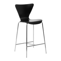 Eurostyle - Tendy-C Counter Chair (Set Of 2)-Blk/Chr - Modern style doesn't have to be trendy. You'll love the way this classic chair design looks in your updated kitchen. The clean cut form is refined and stylish, but will stand the test of time.