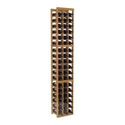 3 Column Standard Cellar Kit in Pine with Oak Stain - Each wine cellar rack meets Wine Racks America's unparalleled fabrication standards. Modular engineering provides universal kit compatibility which enables connoisseurs to mix and match wine rack kits until you achieve a personally-defined wine bottle storage system.