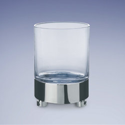 Windisch - Round Plain Crystal Glass Tumbler - Contemporary style clear crystal glass tumbler. Available in three finishes.