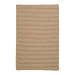 Colonial Mills - Colonial Mills Simply Home Solid H330 Cuban Sand Rug H330R120X156S 10x13 - Practical. Colorful. Versatile. Maintenance-free. Simply pick from 37 colors to find the perfect solid-color indoor/outdoor rug for your space.