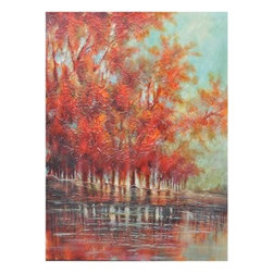 Crestview Collection - Crestview Collection Sorrell Landscape Hand-Painted High Gloss Canvas Wall Art X - Crestview Collection Sorrell Landscape Hand-Painted High Gloss Canvas Wall Art X-9821POTVC