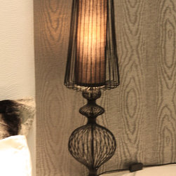 Lights in our projects - Perfect scale and proportioned table lamp for this contemporary bedroom