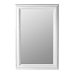 Cooper Classics - Cooper Classics Julia Rectangle Mirror, Chesapeake White - The Julia rectangle mirror will make a delightful addition to any home. This lovely, beveled wall mirror features a gorgeous Chesapeake white finish that will add charm to any decor.