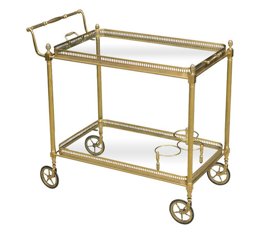 Vintage French Brass Bar Cart - The HighBoy, Alhambra Antiques