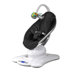 4Moms MamaRoo Classic, Black - The Mamaroo bounces up and down and sways from side to side, just like parents do when comforting their babies.