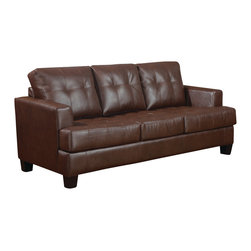 Coaster - Coaster Samuel Sleeper Sofa (Dark Brown) - The Samuel Collection by Coaster Furniture. This collection offers style and comfort with its clean lines and attached seat cushions. The only way to truly appreciate this collection is to sit and experience it. Our Samuel sleeper is a great space saver and a stylish addition to any room.