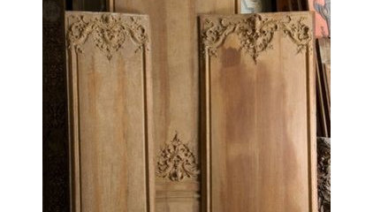 Paneled rooms - Wood paneling Paris France . Specializes in antique wood panelin