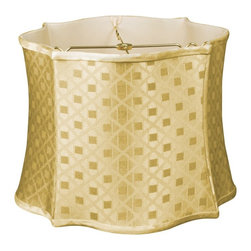 Royal Designs, Inc. - Fancy Scalloped Square Designer Lampshade - This Fancy Scalloped Square Designer Lampshade is a part of Royal Designs, Inc. Timeless Designer Shade Collection and is perfect for anyone who is looking for an elegant yet detailed lampshade. Royal Designs has been in the lampshade business since 1993 with their multiple shade lines that exemplify handcrafted quality and value.