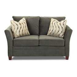 Savvy - Murano Twin Sleeper Sofa, Belsire Pewter, Twin Sleeper, Dreamsleeper Mattress - Murano Twin Sleeper Sofa in Belsire Pewter